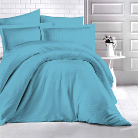 Lenjerie de pat damasc HORECA (GROS) - TURKUAZ O persoană