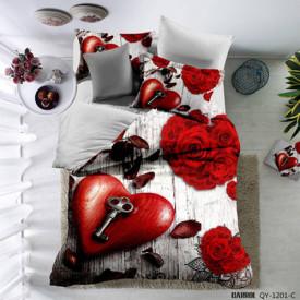 Lenjerie de pat poplin - două persoane (QY-1201)