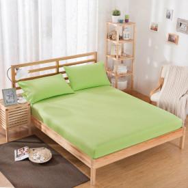 Husa de pat tricot cu inaltimea standard de 25cm (VERDE) 90x200cm sau 100x200cm