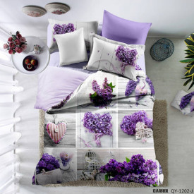 Lenjerie de pat poplin - două persoane (QY-1202)