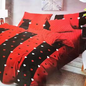 LENJERIE DE PAT COCOLINO - RED WHITE BLACK HEARTS
