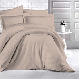 Lenjerie de pat damasc HORECA (GROS) - BEJ Două persoane