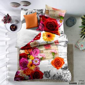 Lenjerie de pat poplin - două persoane (QY-849)
