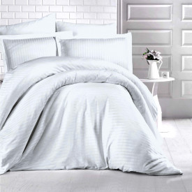 Lenjerie de pat damasc HORECA (GROS) - GRI DESCHIS Două persoane