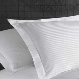 Lenjerie de pat damasc linear - MARINA - două persoane /disponibil dunga 1cm