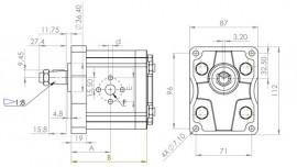 Pompe direction assistée 11ccm Fiat Case New Holland Someca Ford - 5179722 C25X images