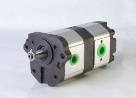 Pompe hydraulique 11+8 MASSEY FERGUSON LANDINI images