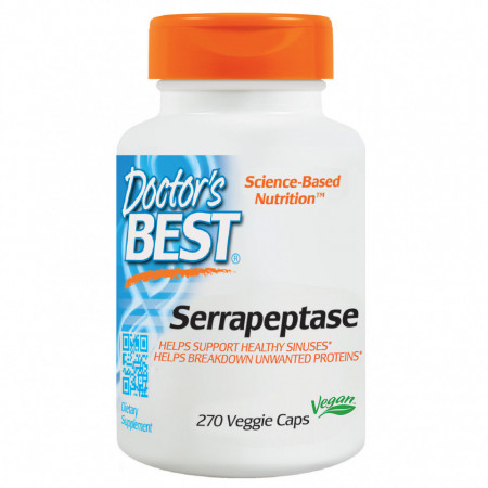 Doctor's Best, Best Serrapeptase, 270 Capsule vegetale + TRANSPORT GRATUIT