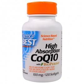 Doctor's Best Absorbtie imediata CoQ10 + Bioperina, 100 mg, 120 caps.gelatinoase + TRANSPORT GRATUIT