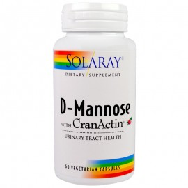 Solaray, D-Mannose 1000 mg cu CranActin Merisoare 400 mg , 60 caps.vegetale + TRANSPORT GRATUIT