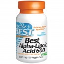 Doctor's Best, Best Alpha-Lipoic Acid, 600 mg, 60 Caps.vegetale + TRANSPORT GRATUIT
