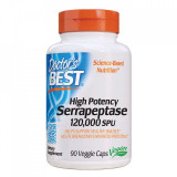 Doctor's Best, Best High Potency Serrapeptase, 120,000 SPUs, 90 Capsule vegetale + TRANSPORT GRATUIT