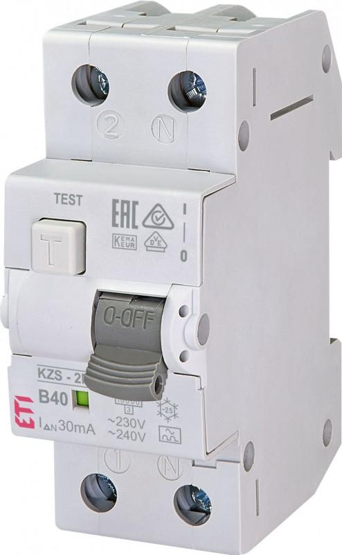 Siguranta automata diferentiala RCBO 40A,1+N TIP A, Curba B40, Capacitatea de rupere (kA) 10