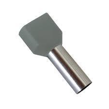 Pini dubli gri 2x2.5 mm, pac 100 buc