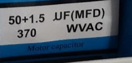 Condensator pornire motor 50x1,5 uF