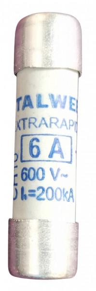 Siguranța fuzibila cilindrice ultra rapida CH10 aR 6A / 600V eti