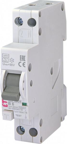 Siguranta automata diferentiala RCBO ETI KZS-1M-DN 1p+N A B6/0.03 6kA