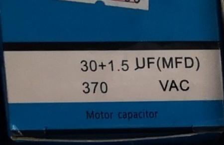 Condensator pornire motor 30x1,5 uF