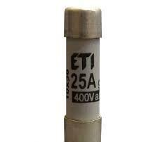 Siguranța fuzibila cilindrice gG 25A/400V, Joasă Tensiune ETI