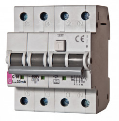 Siguranta automata diferentiala RCBO ETI, KZS-4M 3p+N A B25/100 mA