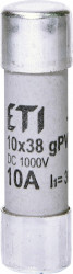 Siguranța fuzibila cilindrice CH10x38 gPV 10A/1000V DC