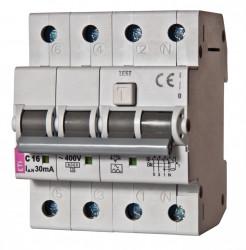 Siguranta automata diferentiala RCBO ETI, KZS-4M 3p+N A B32/100mA