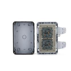 Priza dubla de exterior ip66,rezistenta la intemperii, impermeabila
