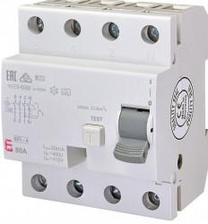 Siguranta automata diferentiala trifazata RCCB EFI-4 A 80/0.03