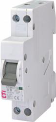 Siguranta automata ETI, 6A, 1P+N, curba declansare B, curent de rupere 6kA