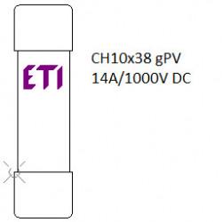 Siguranța fuzibila cilindrice CH10x38 gPV 14A/1000V DC eti