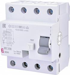 Siguranta automata diferentiala TIP B+ EFI-4 B+ 40/0.03 eti