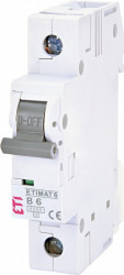 Siguranta automata ETI, 6A, 1P, curba declansare B, curent de rupere 6kA