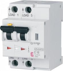 Siguranta AFDD+ protectie incendiu cauzat de arc electric 16A, 10Ka,tip A,curba C combinat cu diferential 30ma RCBO ETI