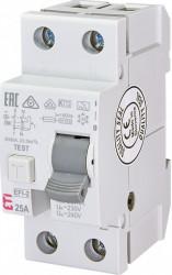 Siguranta automata diferentiala RCCB 25A, 30 mA, Tip A, ETI