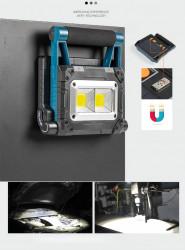 Lampa de lucru led cu panou solar si acumulator