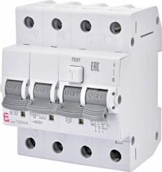Siguranta automata diferentiala RCBO KZS-4M 3p+N A B25/0.03, tip A, curba B