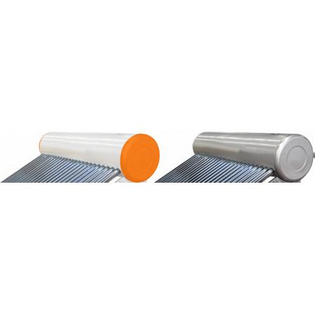 Vas Acumulare Sistem Panou Solar cu Tuburi Vidate SP-470 / C: 673685; T: Inox; V[l]: 100; Tuburi: 12; D[mm]: 58; L[mm]: 1800 Tip C