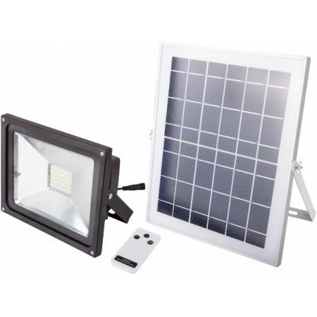 Proiector LED cu Incarcare Solara si Telecomanda / P[W]: 12; Ps[W]: 18; C1: c00236; C2: c00237