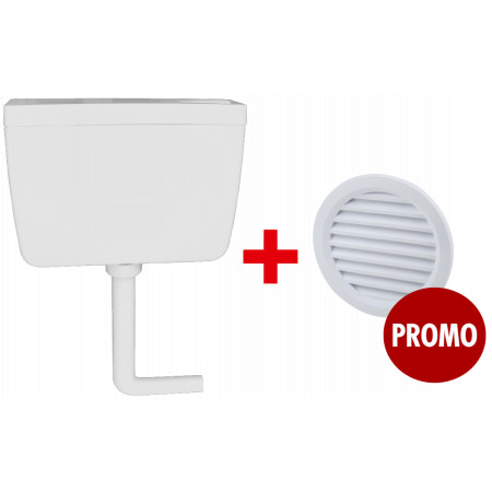 Rezervor WC Aqua 9 / V[l]: 9 + 1 buc Grila de Ventilatie Rotunda cu Plasa D[mm]: 110 Promo.