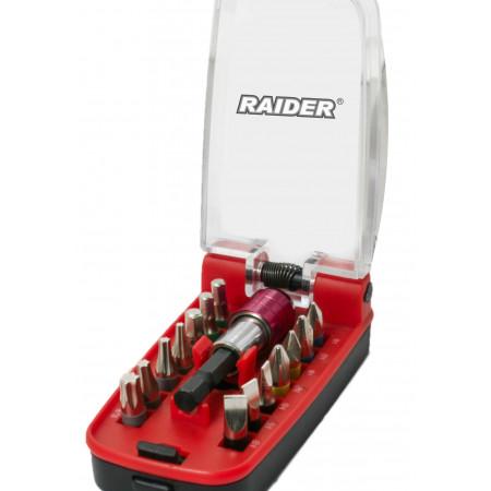 Set 15 biti si suport magnetic 1/4'' Raider