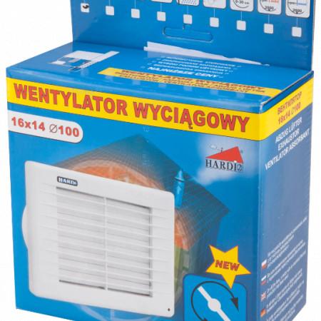 Ventilator cu Jaluzea Automata / Tip: C43; D[mm]: 100; B[mm]: 140; L[mm]: 160; P[W]: 14; Q[mc/h]: 80; H[pa]: 40