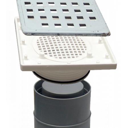 Sifon Pardoseala Patrat cu Inaltator SV SCT-H56-280-1 / Hmin-max[mm]: 110/160; Dev[mm]: 110