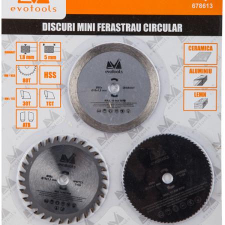 Discuri Mini Ferastrau Circular 3 Pcs / D[mm]: 85; C: 678257