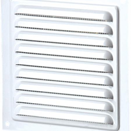 Grila de Ventilatie Metalica cu Plasa 1111 / Cod: MVM 200s; L[mm]: 200; C: Alb
