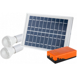 Kit Iluminare LED Incarcare Solara si 2 Becuri / P[W]: 5