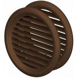 Grila de Ventilatie Rotunda din ABS cu Plasa 1111 / D[mm]: 50; C: Maro