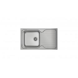 Chiuveta din inox, 1 cuva, 1 picurator, modalitate de instalare: Inset Teka CLASSIC 1B 1D