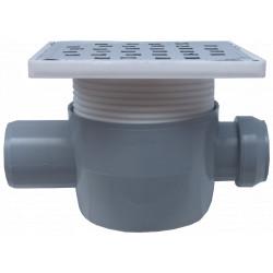 Sifon Pardoseala Patrat cu Inaltator SL 1 Intrare 180 grade SP-H75-150-3 / Hmin-max[mm]: 95/125; Dev[mm]: 50; Di[mm]: 40