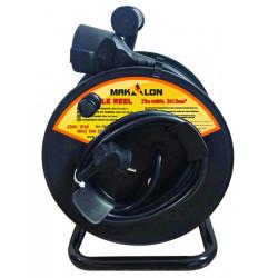 Tambur cu cablu 25m 1.5mm2 cu protectie termica MK