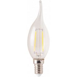 Bec Led Filament Tip Lumanare / Tip: C37; E: 14; P[W]: 2; C: 3000K